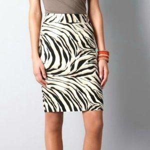 Like New LOFT Zebra Animal Print Pencil Skirt